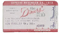 Early Diners' Club card.