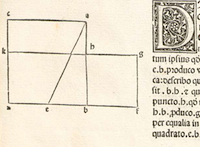 Detail of page from Euclid's Elements.  Please click to view entire page.