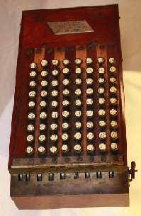 Early comptometer.