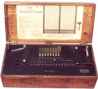 Millionaire mechanical calculator.