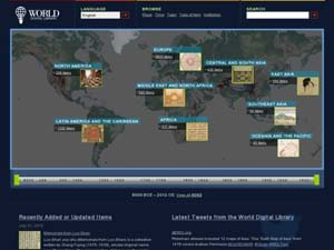 The World Digital Library homepage