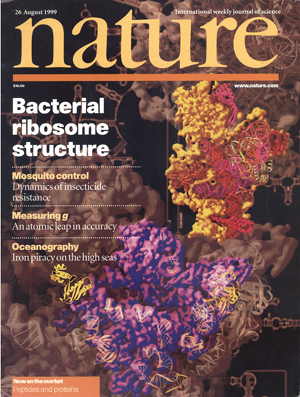 A cover of the journal Nature