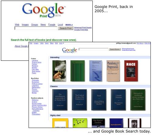 E book digital book history timeline historyofinformation the shift from google print to google books fandeluxe Image collections