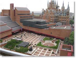 The exterior of the British Library