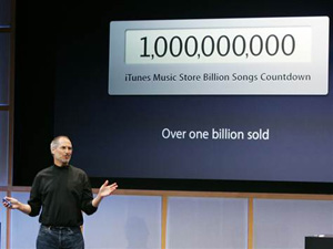 Steve Jobs speaking about the one billionth iTunes download