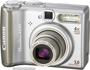 The Canon A530, considered by many to be one of the best digital cameras available in 2006