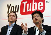 Youtube co-founders Chad Hurley and Steve Chen
