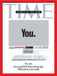 The cover of Time Magazine when the magazine named