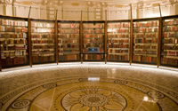 Bookshelves inside the Library of Congress