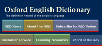 An old interface of the Oxford Dictionary Online where users could subscribe to the online dictionary