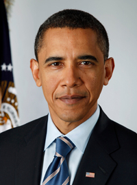 Barack Obama, the 44th president of the United States
