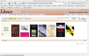 The LibraryThing homepage