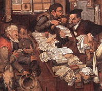 The Village Lawyer by Pieter Breughel the Younger.