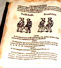 Pages from Orchésographie.