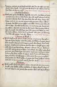 A recipe for Custarde taken from the Boke of Kokery, c. 1440.