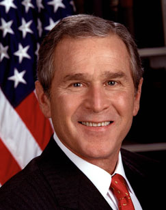 President George W. Bush, the 43rd president of the United States