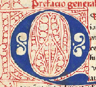 Detail from page of De officiis with Paradoxa Stoicorum.  Click on the image to see the entire page.