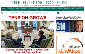 The Huffington Post homepage
