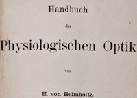 Title page of Hermann von Helmholtz's Handbuch der physiologischen Optik. Please click on link to view and resize entire page.