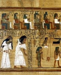 <p>Papyrus from the <em>Book of the Dead</em> of Ani.</p>