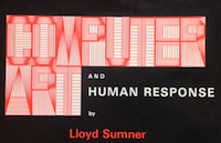 Cover of Computer Art and Human Response by Lloyd Sumner.
