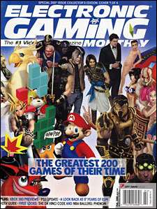 The cover of the 200th issue of Electronic Gaming Monthly