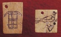 <p>Ivory tags from tomb U-j.</p>