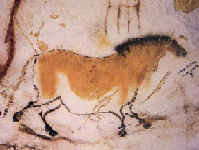 Painting of a dun horse from Lascaux Cave. (Click on image to view larger.)