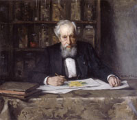 A painting of Hugo de Vries in his retirement, by Thérèse Schwartze