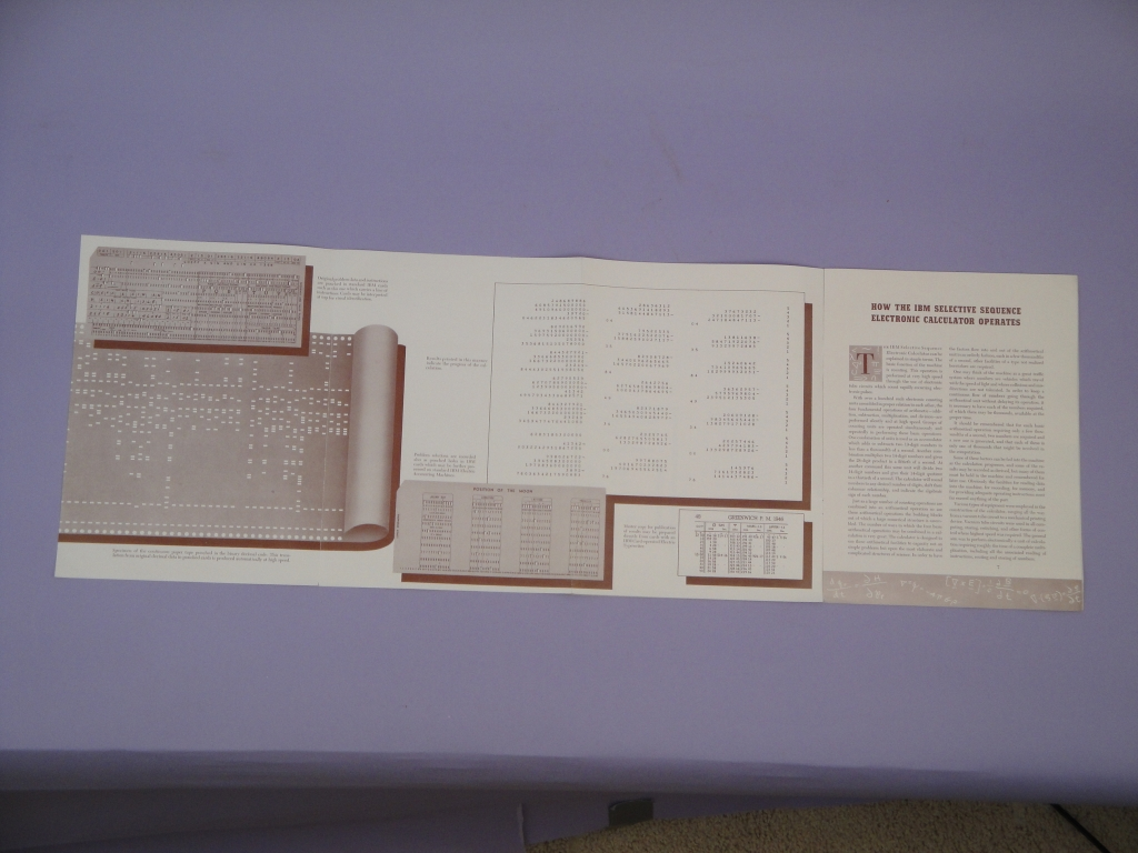 Computer Calculator Design Architecture Timeline Ibm 1620 Programming Manual On Physical Terminal Block Wiring Diagram In January 1948 Announced Its First Large Scale Digital Calculating Machine The Selective Sequence Electronic Ssec