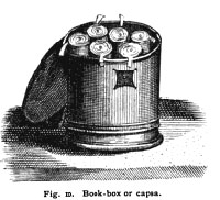 Figure ten of Clark's 'The Care of Books,' depicting a book box or capsa.