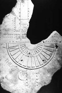 A reconstruction of a portion of the Forma Urbis Romae, showing a section of the Theater of Pompey. (View Larger)