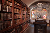 A bust of Johannes Mentlin in the Humanist Library of Sélestat. (View Larger)