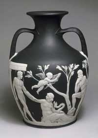The Portland Vase. Shown is the first of two scenes. (View Larger)
